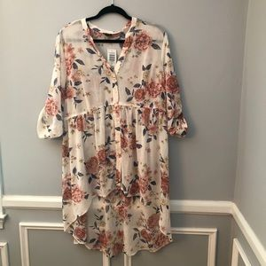 New Torrid Ivory Floral Tunic
